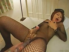 Shemale thai exhib en body fishnet
